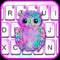 Galaxy Owl Keyboard Theme icon