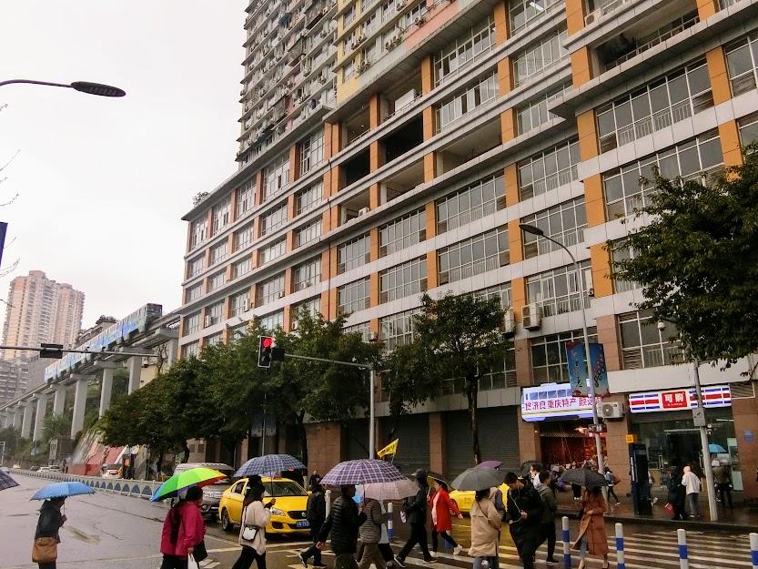 重慶モノレール李子壩駅