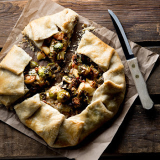 Brussels Sprouts, Bacon and Apple Galette