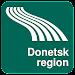 Donetsk region Map offline Icon