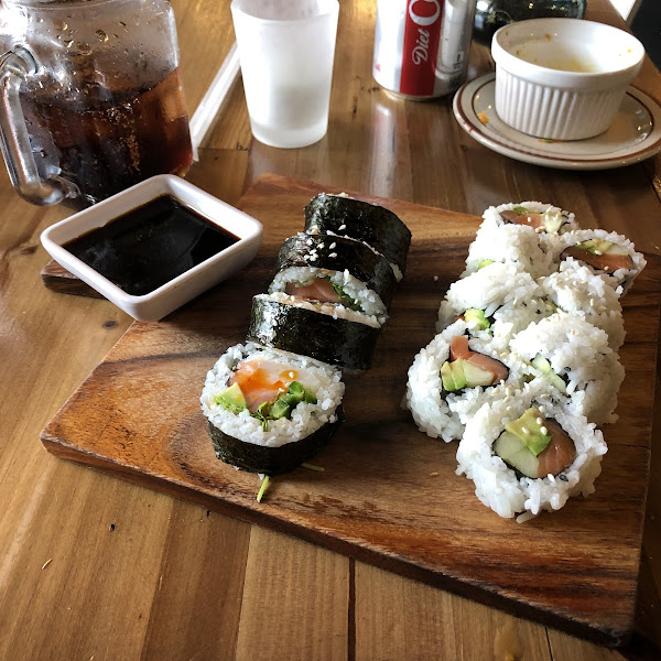 Lunch special Alaskan and Hangover rolls