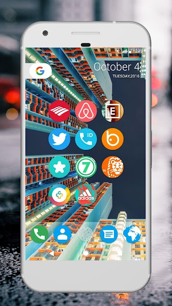 Pixel Icon Pack - Nougat UI- screenshot