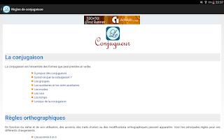 Screenshot of Le Conjugueur