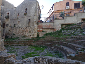 Photo: Old Roman playhouse in Taormina - part of the Forum