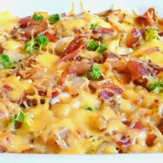 SMOKED GOUDA CABBAGE AND BACON.