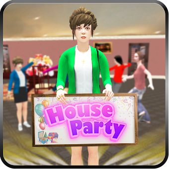 Virtual Party House: Millionaire Happy Family Game