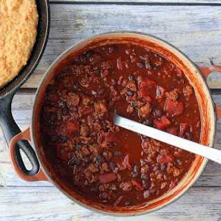 30 Minute Chili With Ground Beef and Beans.