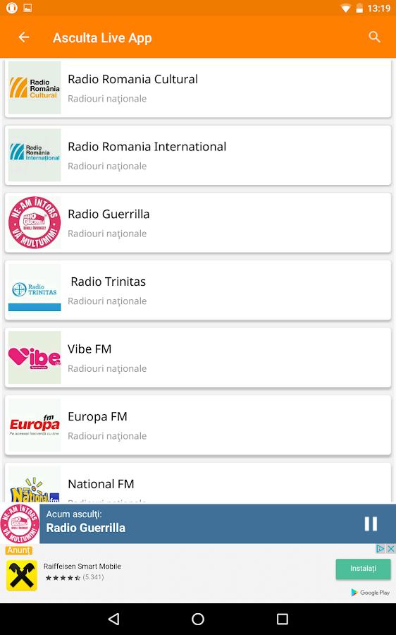 RE: Care este cea mai buna aplicatie de radio pentru sistemul Android din Google Play?