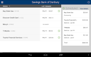Screenshot of Savings Bank of Danbury