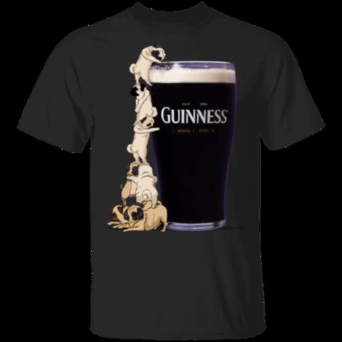 Funny Pug T-Shirt Guinness Shirt Gift For Beer Lover
