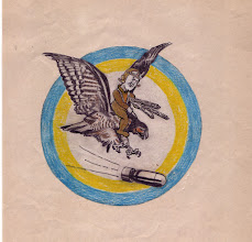 Photo: VBF-5 original drawing submitted 7 August 1945. Insignia approved 22 August 1945 and discontinued on 8 January 1947.. Squadron established on 8 May 1945 at Klameth FAlls, redesignated VF-6A on 15 Novmeber 1946, VF-52 on 16 August 1948 and disestablished on 23 Febraury 1959. Naval Aviation History