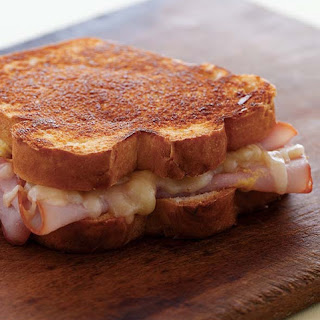 Grilled Ham and Cheese Sandwich.