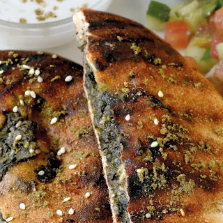 Spinach and Feta Arayes.
