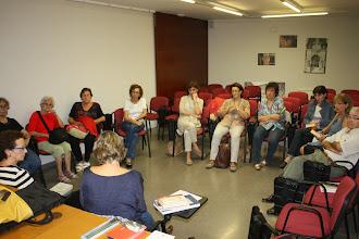 """Photo: Dinamització del club de lectura de la Biblioteca de Bellpuig, amb la novel·la """"El quadern gris"""", de Josep Pla"""