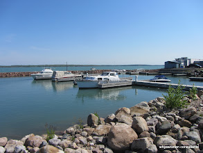 Photo: Boats, rocks, and water...