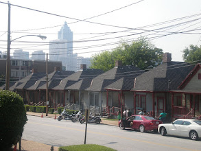 Photo: view of working class housing from MLK home front porch