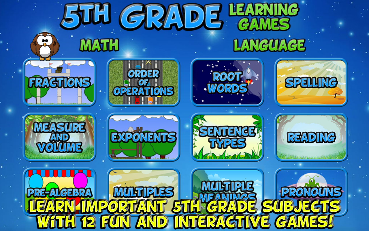 Worksheet Learning Sites For 5th Graders fifth grade learning games android apps on google play screenshot