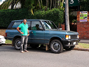 Photo: Robin and his Range Rover