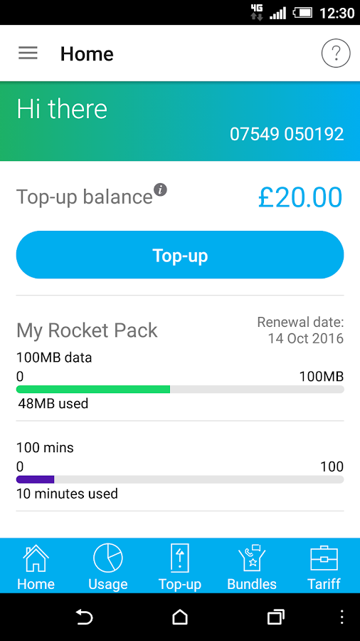 Tesco Mobile Pay As You Go- screenshot