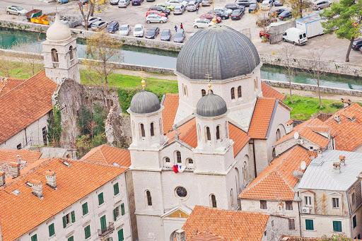 Kotor-basilica.jpg - A church basilica rises above Kotor's Stari Grad, or Old Town.