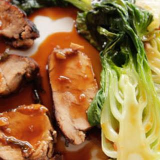 Grilled Pork Tenderloin with Baby Bok Choy.