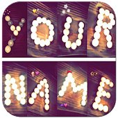 Write your name with shapes–candles photo designer
