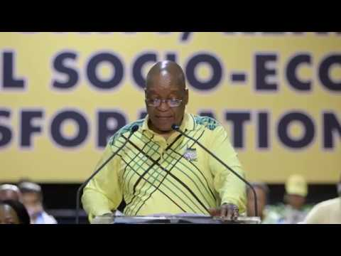 President Jacob Zuma delivered his last political report at the ANC elective conference in Nasrec on Saturday.