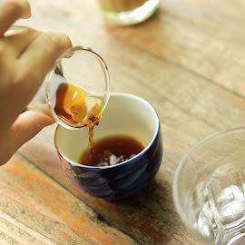coffe please by Kristian Hadinata - Food & Drink Alcohol & Drinks ( black coffee, vintage, coffee, detail )