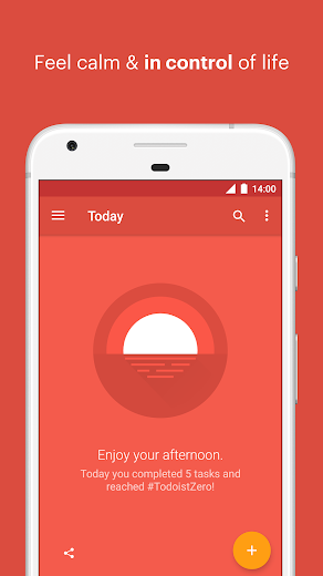 Screenshot 3 for Todoist's Android app'