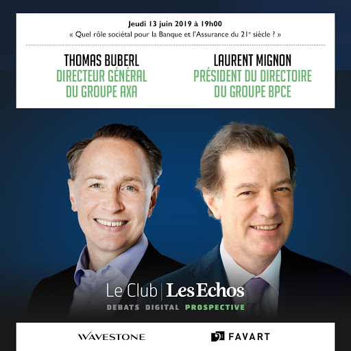 Thomas Buberl et Laurent Mignon