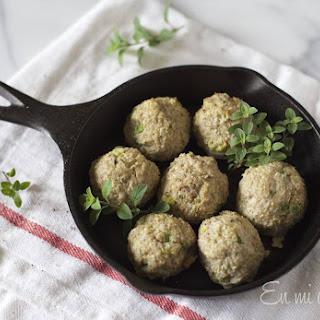 Pork Quinoa Meatballs.