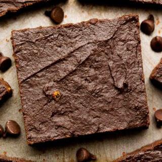 Healthy Fudgy Dark Chocolate Orange Brownies.