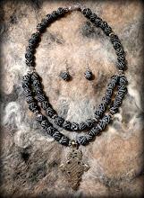 Photo: # 202 UNITY ~ ЄДНІСТЬ  - Coptic cross, clay, silver plate   $90/set SOLD