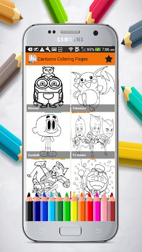 Cartoons Coloring Pages 1.01.0 screenshots 1
