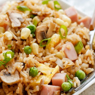 {Better Than Take-Out} Fried Rice with Ham and Vegetables
