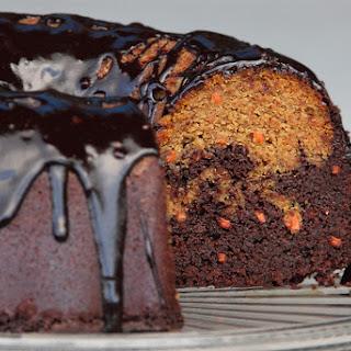 Chocolate Pumpkin Marble Cake.