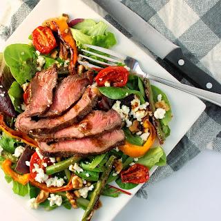 Coffee Marinated Steak Salad with Coffee-Infused Balsamic Vinaigrette Recipe