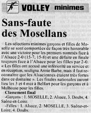 Photo: 24-04-97 Les minimes mosellans en finales nationales
