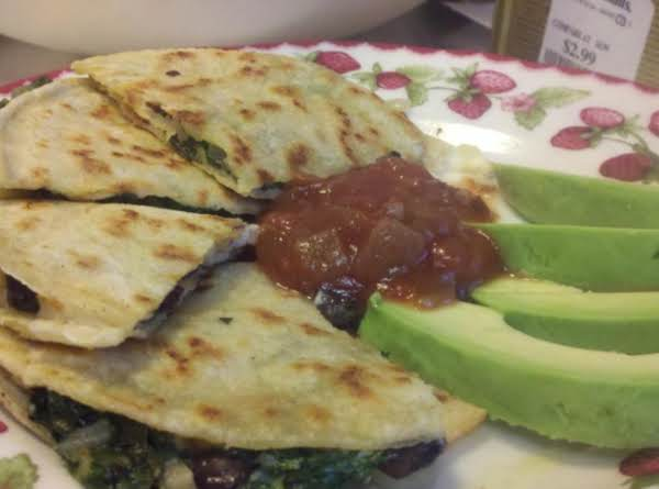 Spinach And Black Bean Quesadillas
