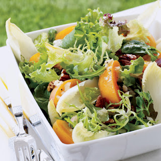Mixed Greens with Apricots and Champagne Vinaigrette.