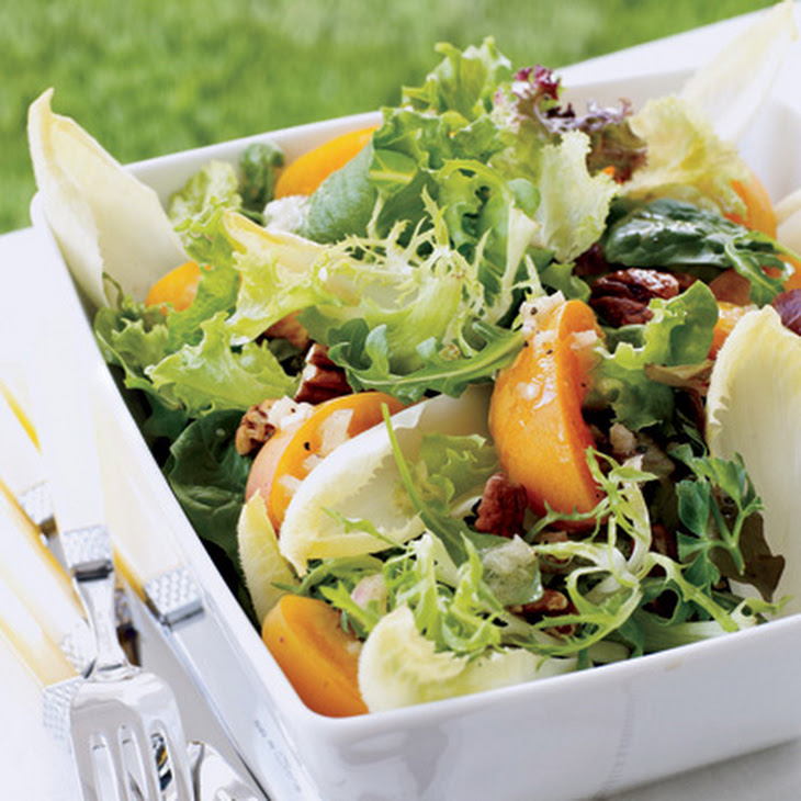 Mixed Greens with Apricots and Champagne Vinaigrette
