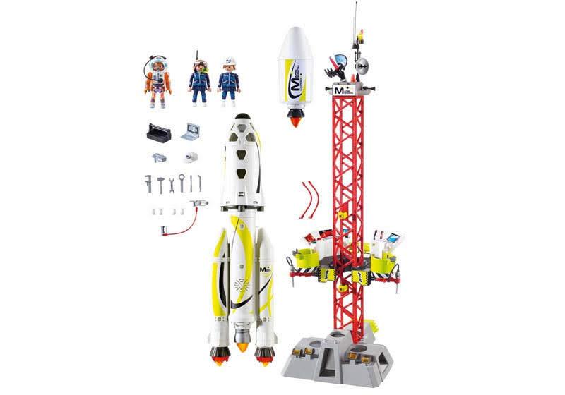 Contenido real de Playmobil® 9488 Cohete con Plataforma de Lanzamiento