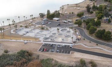 Photo: Neat skateboarding park