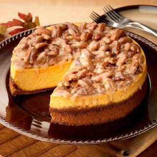 Praline Pumpkin Cheesecake.