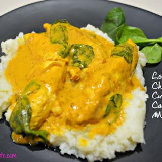 Healthy Chicken Curry with Cauliflower Mash