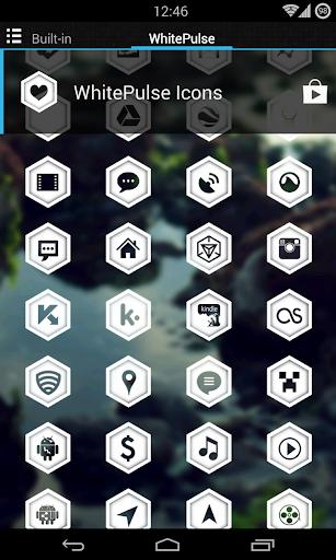 WhitePulse Icons (ADW/NOVA/GO) 1.1 screenshots 2