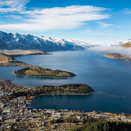 Queenstown New Zealand by John Williams - Landscapes Mountains & Hills ( mountains, queenstown, south island, lake, morning, new zealand )