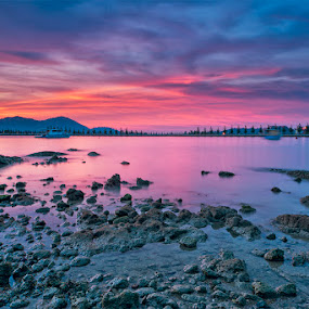 The Photographer Under The Red Sky by SyaFiq Sha'Rani - Landscapes Waterscapes ( photographer, taking photos, pwc75 )