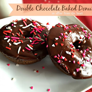 Double Chocolate Baked Donuts.