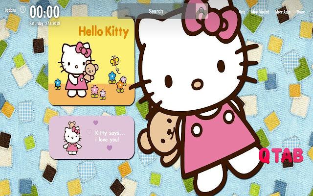 Hello Kitty New Tab Anime Wallpapers